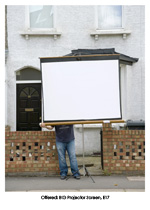 Offered: BIG Projector Screen, E17